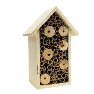 Refugio de insectos de madera 20 x 13 x 9 cm