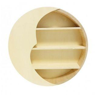 Moon wooden shelf 29,6 x 29,6 x 6 cm