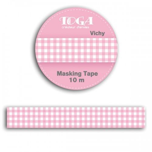 Masking tape 10 m - vichy rose