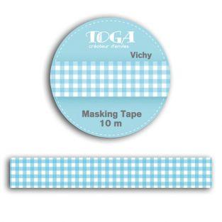 Masking tapes 10 m - blue gingham