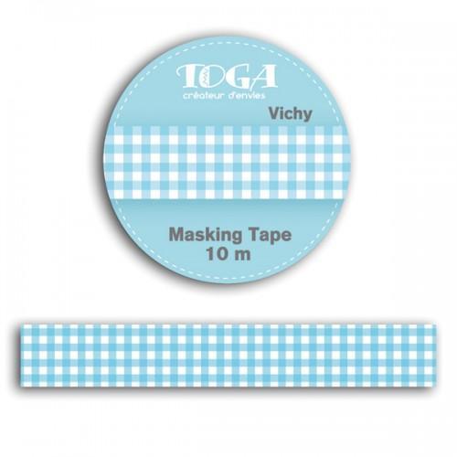 Masking tapes 10 m - blue gingham