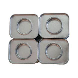 4 small rectangular metal boxes 6 x 5 x 4 cm