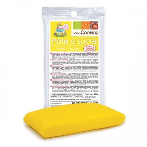 Pasta de azúcar amarilla 100 g