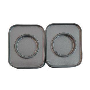 2 petites boîtes métalliques rectangulaires 6 x 5 x 4 cm