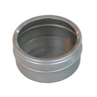 Boîte métallique à couvercle transparent 5,3 x 2,5 cm