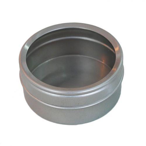 Metal box with transparent lid 5,3 x 2,5 cm