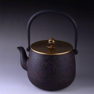 Japanese black cast iron Teapot with...