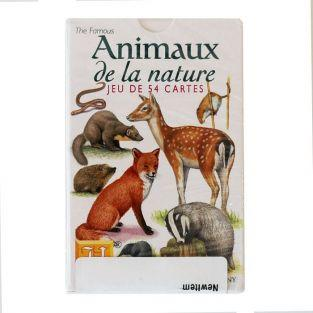 Set of 54 playing cards animals of nature
