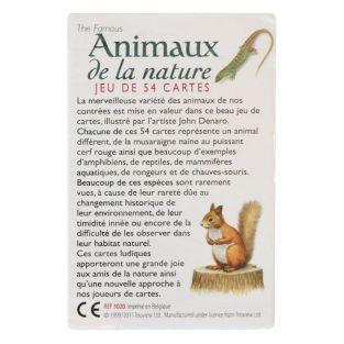 Jeu 54 cartes animaux de la nature
