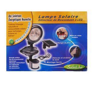Solar motion detector lamp