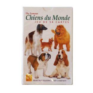 Set of 54 playing cards dogs of the world