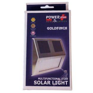 Lampe solaire multifonctionnelle 2 LED Goldfinch