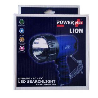 Lámpara dynamo para búsqueda LED 3 Watt