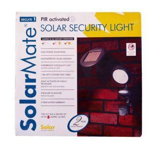 Solar security lamp