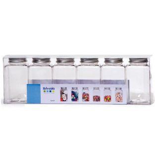 6 vials plastic - metal cap