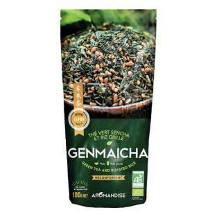 Organic Genmaicha green tea - Sencha & grilled rice - 100 g