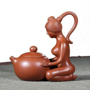 Teekanne aus Terracotta 110 ml mit...