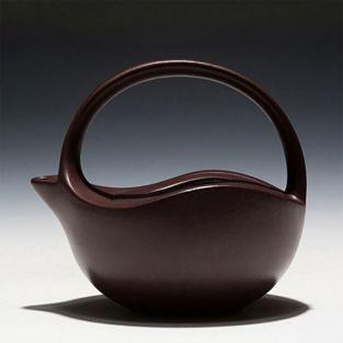 Glatte Teekanne aus Gusseisen braun...