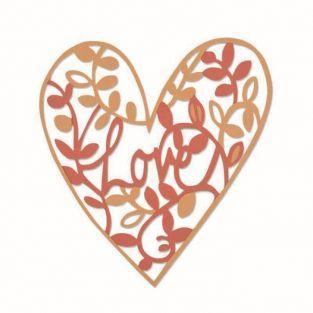 Troqueles de corte Sizzix - Corazón vegetal