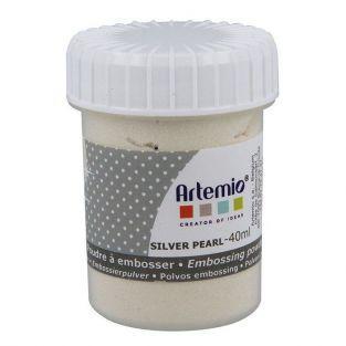 Poudre à embosser 40 ml - Argenté nacré