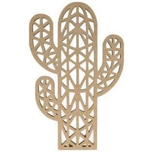 Silhouette en bois MDF origami - Cactus 25 cm
