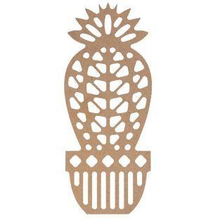 Silueta de madera MDF - Bola de cactus 15 cm