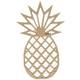 MDF wooden origami silhouette - Pineapple 15 cm