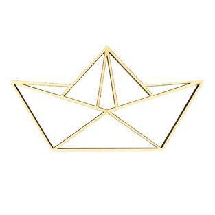 Silhouette en bois MDF - Bateau en origami