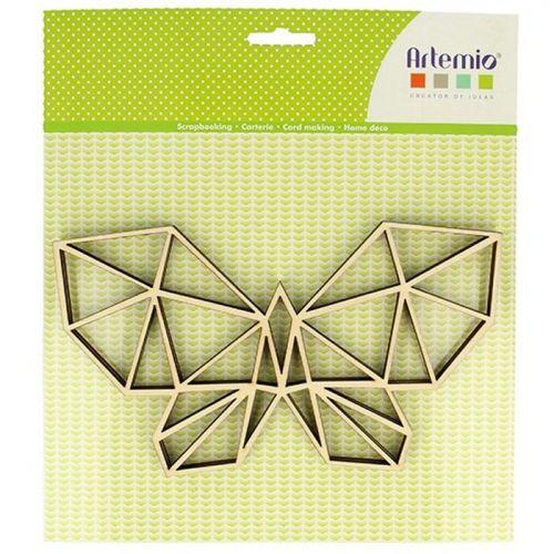 MDF wooden origami silhouette - Butterfly