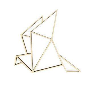 Silueta de madera MDF - Gallina de origami