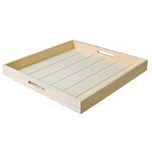 Plateau carré en bois 45 x 45 x 5 cm