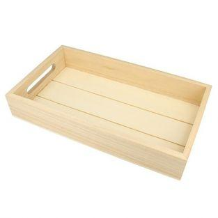 Rectangular wooden tray 30 x 17 x 5 cm