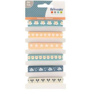 Ribbons 1 m - Beige & blue dream