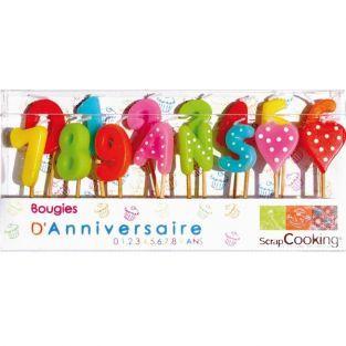 15 candele di compleanno in cifre