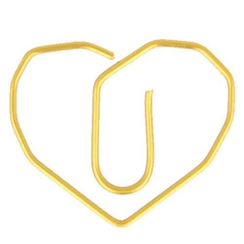 6 Trombones coeurs dorés 2,6 x 3 cm
