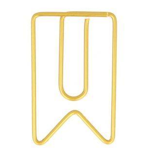 6 Trombones fanions dorés 2 x 3,3 cm