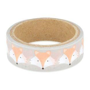 Masking tape 5 m x 1.5 cm - Foxes