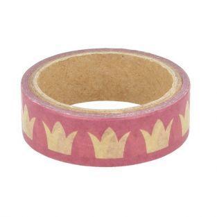 Washi tape 5 m x 1,5 cm - Coronas