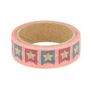Masking tape 5 m x 1.5 cm - Flags