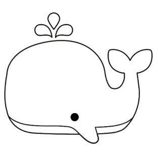 Tampon bois 3,7 x 4,7 cm - Baleine
