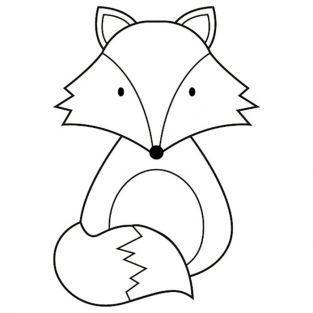 Tampon bois 3,7 x 5,3 cm - Renard