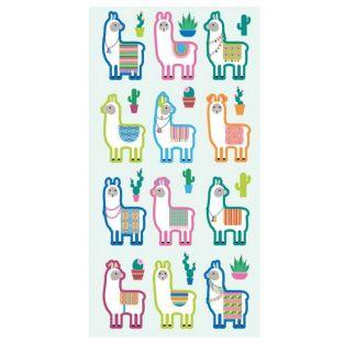 Puffies Stickers - Lamas & Cactus