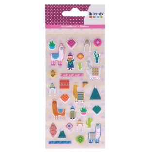 Puffies Stickers - Lamas & Alpacas