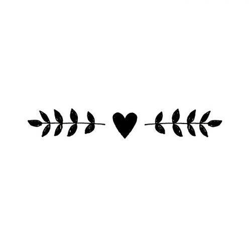 Sello de madera - friso y corazón 2,6 x 7,5 cm