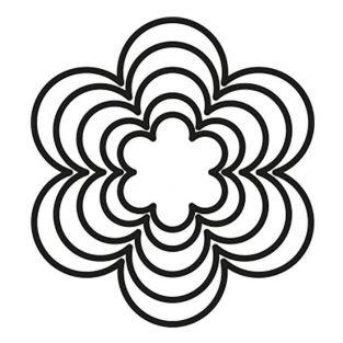 5 matrices de découpe universelles - Fleur