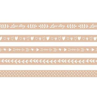 5 Masking Tapes 5 m - Love story kraft