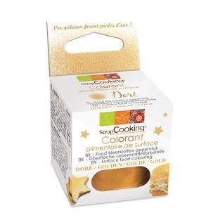 Colorant alimentaire de surface doré 5 g