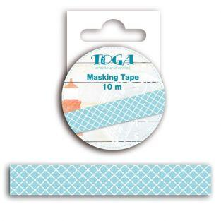 Masking tapes blue-white...