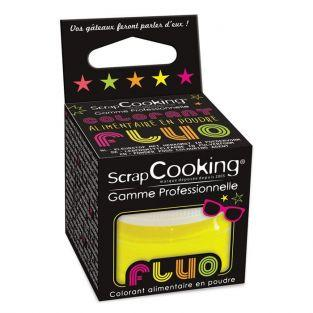 Colorant alimentaire en poudre Jaune fluo 3 g