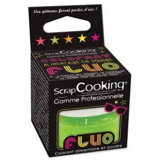 Colorant alimentaire en poudre Vert fluo 3 g